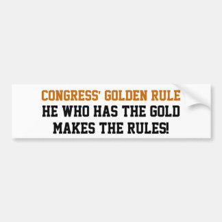 Golden Rule Car Bumper Sticker