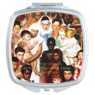 Golden Rule (Do unto others) by Norman Rockwell Vanity Mirror