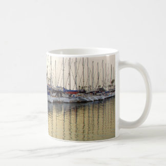 Golden Sailboat & Ocean Reflection Mug