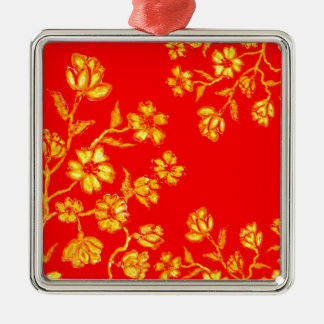 Golden Sakura Art 3 Metal Ornament