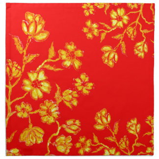 Golden Sakura Art 3 Napkin
