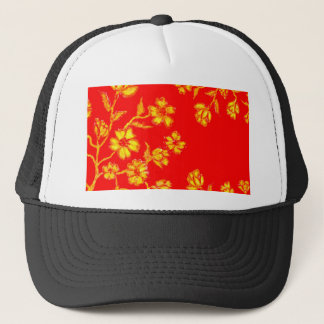 Golden Sakura Art 3 Trucker Hat