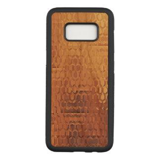 Golden Samsung Galaxy S8 Slim Cherry Wood Case