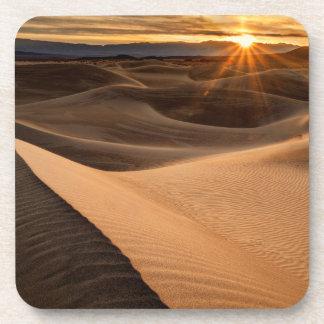 Golden Sand dunes, Death Valley, CA Beverage Coasters
