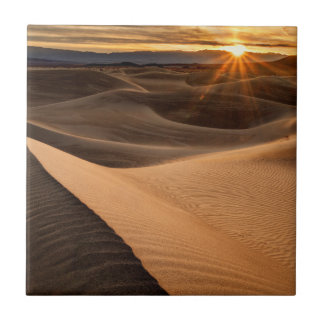Golden Sand dunes, Death Valley, CA Ceramic Tiles