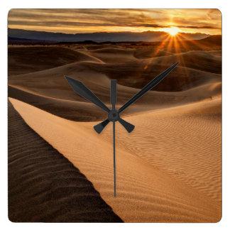 Golden Sand dunes, Death Valley, CA Clock