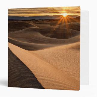 Golden Sand dunes, Death Valley, CA Vinyl Binders