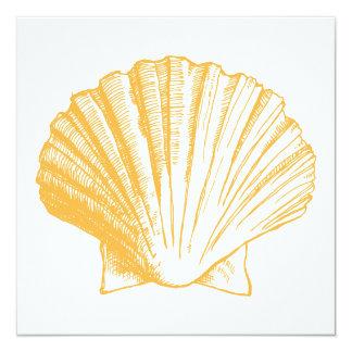 Golden Sand Sea Shell Luau Reception Invitation