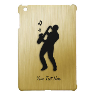 Golden Saxophone Player iPad Mini Cover