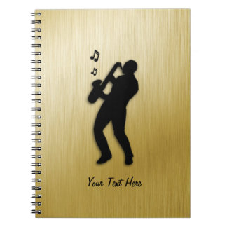 Golden Saxophone Player Notebook
