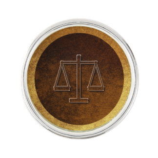 Golden Scales of Justice Lapel Pin