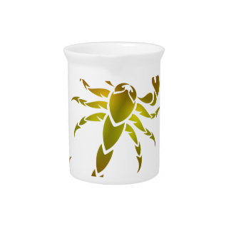 Golden Scorpion Beverage Pitcher