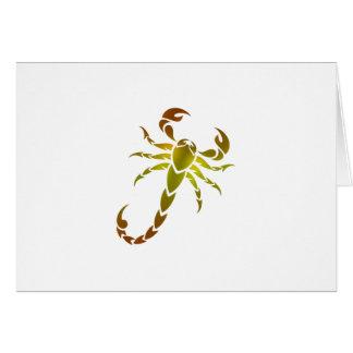 Golden Scorpion Card