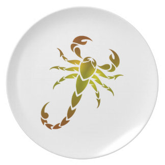 Golden Scorpion Party Plates