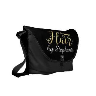 Golden Script Scissors Hairstylist Hair Salon Commuter Bags