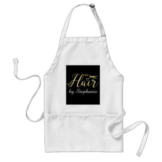 Golden Script Scissors Hairstylist Hair Salon Standard Apron