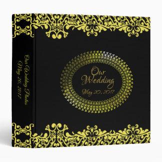 Golden Scroll Our Wedding Binder