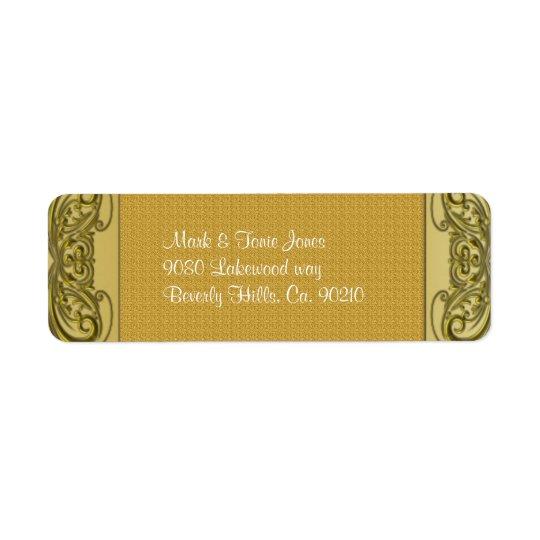 Golden Scrolls 50th Wedding Anniversary Return Address Label