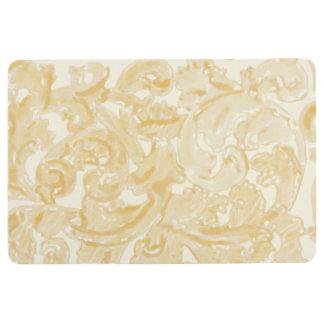Golden Scrolls Floor Mat