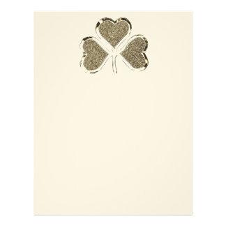 Golden Shamrock Clover Ireland Irish Symbol Letterhead