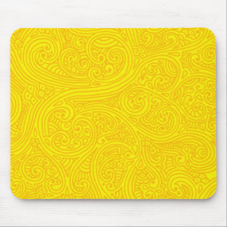 Golden Sharpie Swirls Mouse Pad
