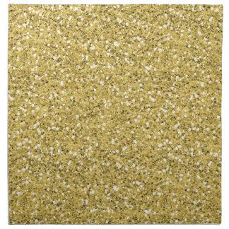 Golden Shimmer Glitter Napkin