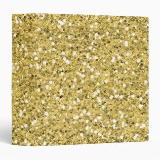 Golden Shimmer Glitter Vinyl Binders