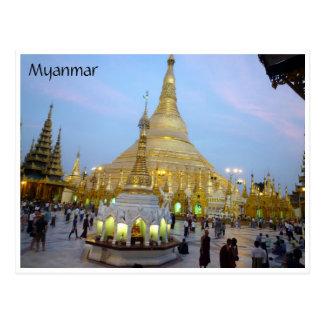 golden shwedagon postcard