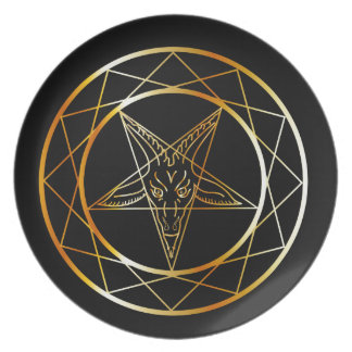 Golden sigil of Baphomet Plate