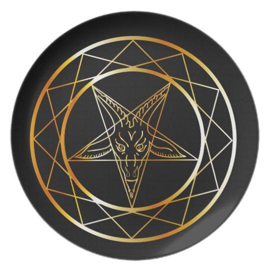 Golden sigil of Baphomet Plate