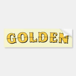 Golden Sign Bumper Sticker