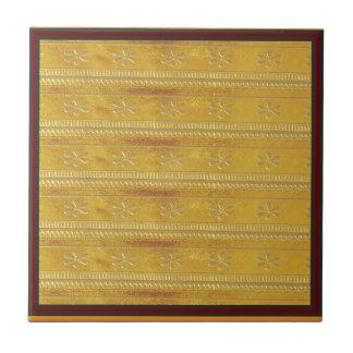 Golden Silk Fabric Template DIY add GREETING PHOTO Tiles
