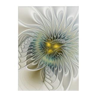 Golden Silver Flower Fantasy abstract Fractal Art