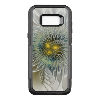 Golden Silver Flower Fantasy abstract Fractal Art OtterBox Commuter Samsung Galaxy S8+ Case