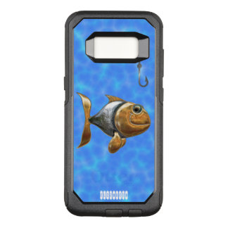 Golden Silver Sparkling Fish With Fishing Hook OtterBox Commuter Samsung Galaxy S8 Case