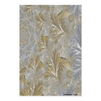 Golden Silvery Poster Print