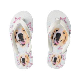 Golden slipper kid's flip flops