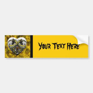 Golden Smoke Dragonheart Bumper Sticker