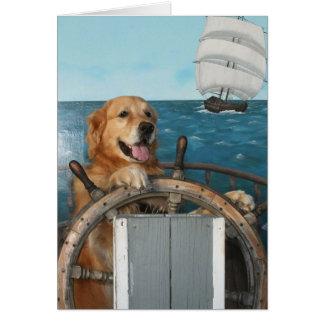 Golden Smooth Sailing Birthday Card