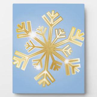 Golden Snowflake Plaque