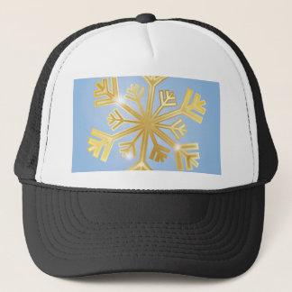 Golden Snowflake Trucker Hat
