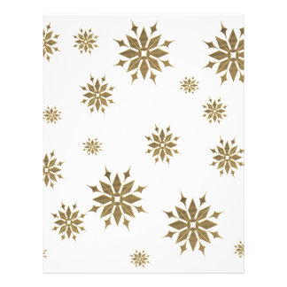 Golden snowflakes customized letterhead