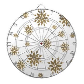 Golden snowflakes dartboard