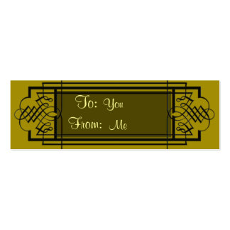 Golden Snowflakes Mini Business Card
