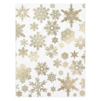 Golden Snowflakes Tablecloth