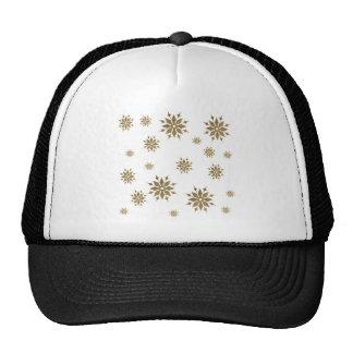 Golden snowflakes trucker hat