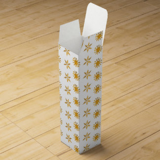 Golden snowflakes Wine Gift Box
