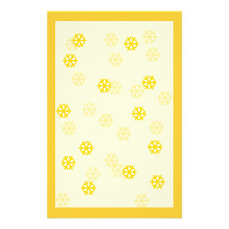 Golden Snowflakes Winter Stationary Personalized Stationery