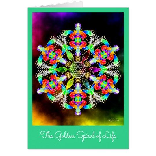 Golden Spiral of Life Card