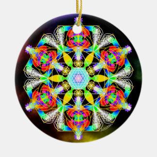 Golden Spiral of Life/Renew Ceramic Ornament